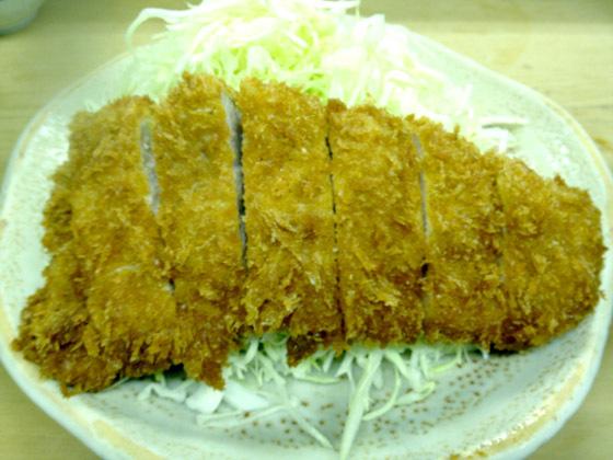とんかつ定食 (750円)