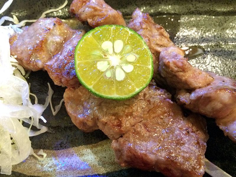 この石垣牛のステーキ串がめちゃ美味い!