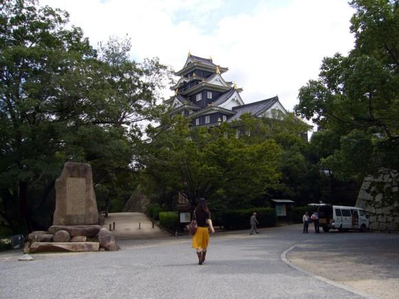 岡山城へ向かう