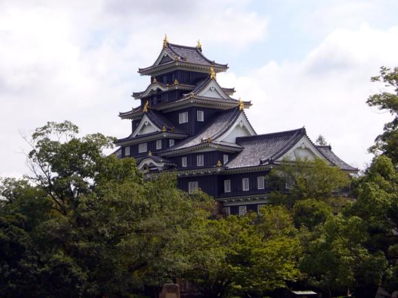 岡山城の外観