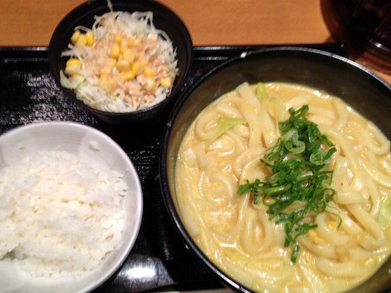 カレーうどんセット(660円)