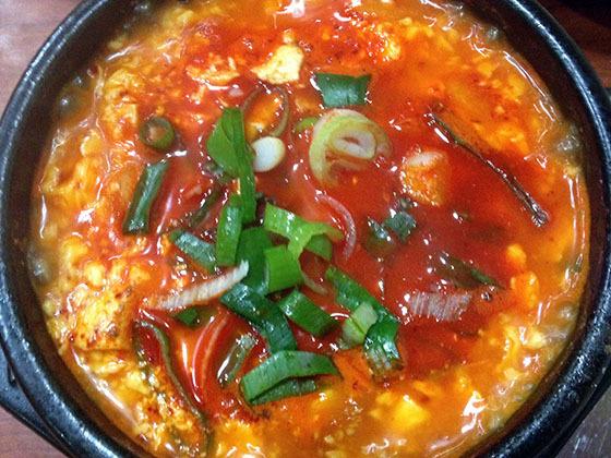 チゲ豆腐定食