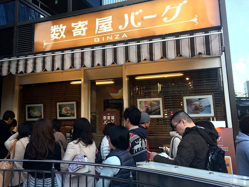 店舗前には常に行列があり、約20分待ちは当たり前