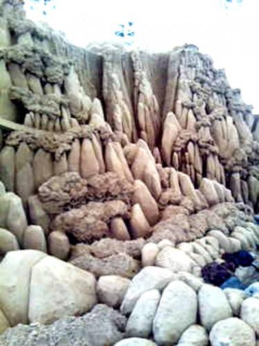 岩が立ち並ぶ風景