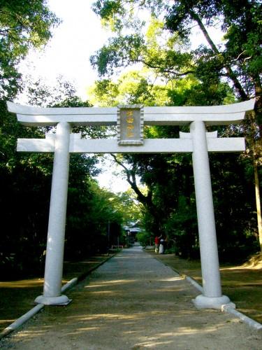 江田神社の鳥居と参道