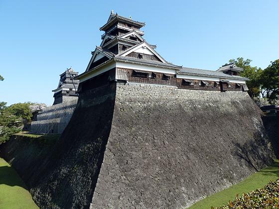 熊本城の外壁